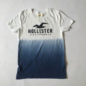 Hollister fade in blue shirt